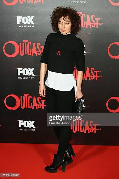 Lidia Vitale attends the 'Outcast' premiere at Auditorium Della Conciliazione on April 19 2016 in Rome Italy