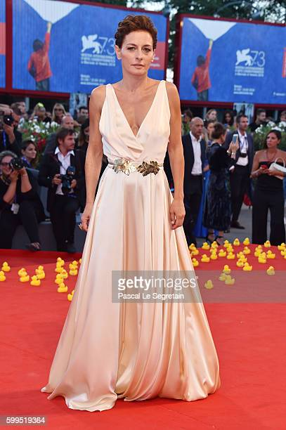 Lidia Vitale attends the premiere of 'Piuma' during the 73rd Venice Film Festival at Sala Grande on September 5 2016 in Venice Italy