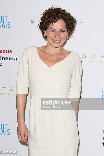 Lidia Vitale attends the 'Rendez Vous' French Film Festival photocall at Hotel Sofitel on April 2 2014 in Rome Italy