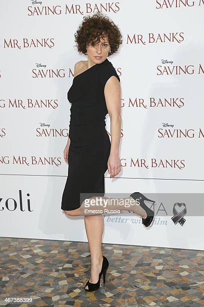 Lidia Vitale attends the 'Saving Mr Banks' premiere at The Space Moderno on February 6 2014 in Rome Italy