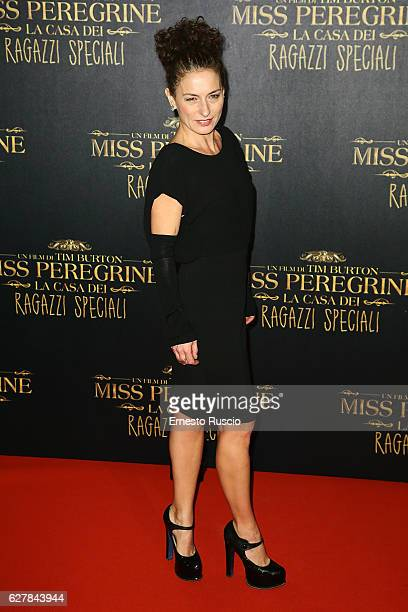 Lidia Vitale walks the red carpet for Tim Burton's 'Miss Peregrine's Home for Peculiar Children' on December 5 2016 in Rome Italy