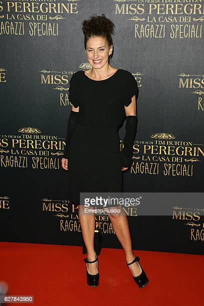 Lidia Vitale walks the red carpet for Tim Burton's 'Miss Peregrine's Home for Peculiar Children' on December 5, 2016 in Rome, Italy.