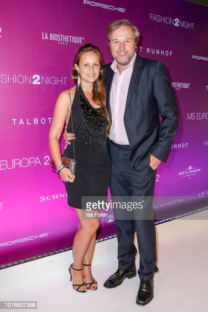 Lidija Grossmann and Stephan Grossmann during the FASHION2NIGHT event on board the EUROPA 2 on August 17, 2018 in Hamburg, Germany.