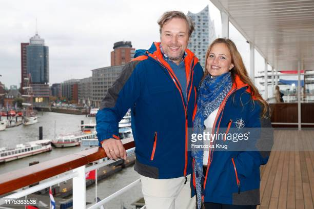 """Lidija Grossmann and Stephan Grossmann during the naming ceremony for the new cruise ship """"HANSEATIC inspiration"""" by Hapag-Lloyd Cruises on October..."""