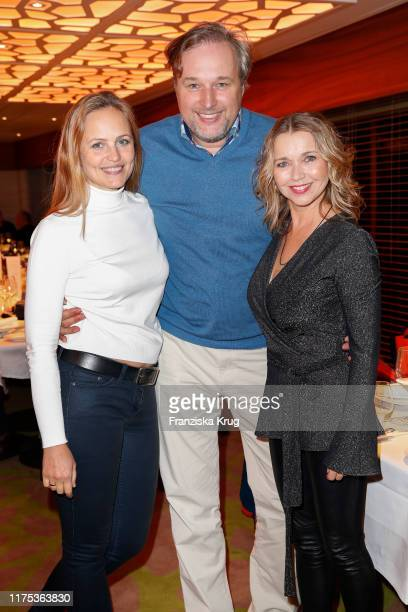 """Lidija Grossmann, Stephan Grossmann and Tina Ruland during the naming ceremony for the new cruise ship """"HANSEATIC inspiration"""" by Hapag-Lloyd Cruises..."""