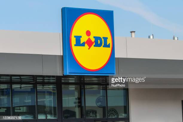Lidl grocery store chain logo on the store is seen in Koscierzyna, Poland, on 14 August 2020