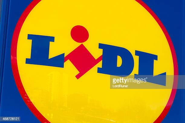 lidl logo - lidl stock pictures, royalty-free photos & images