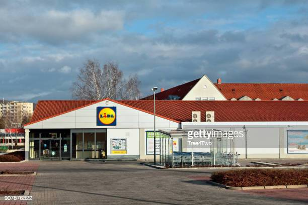 Lidl supermarket store in the german town Amberg