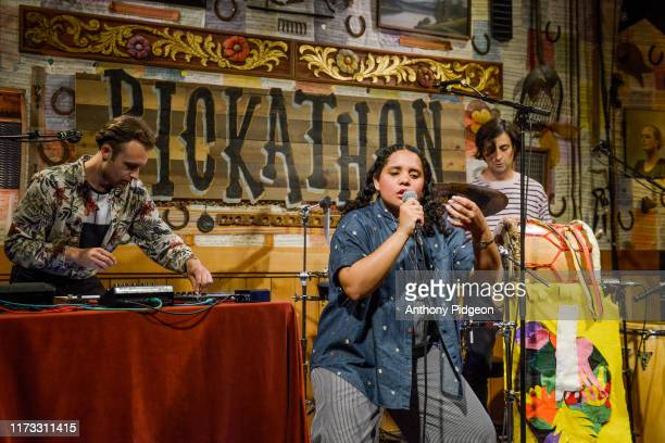 Lido Pimienta performs on stage at The Lucky Barn at Pickathon music festival in Happy Valley Oregon USA on 4th August 2019