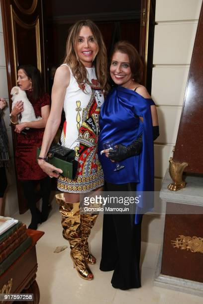 Lieba Nesis and Muna Rihani AlNasser during the Susan Gutfreund Hosts UN Women For Peace Association Reception on February 12 2018 in New York City