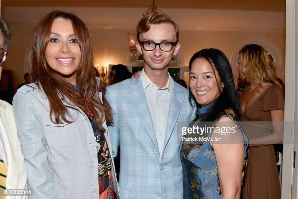 Lieba Nesis Cole Rumbough and Cassandra Seidenfeld attend Katrina and Don Peebles Host NY Mission Society Summer Cocktails at Private Residence on...