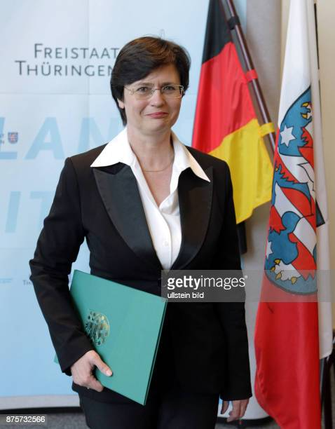 Lieberknecht Christine Politician CDU Germany after her appointment as secretary of welfare in the state of Thuringia