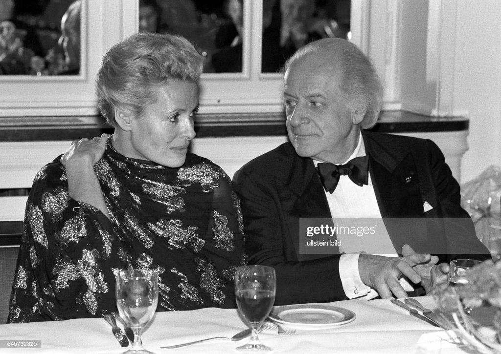 Liebermann, Rolf - Composer, Switzerland - and his wife Helene Vida at the Hamburg Hotel Atlantic : Nachrichtenfoto
