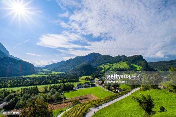 liechtenstein - balzers - principality of liechtenstein stock pictures, royalty-free photos & images