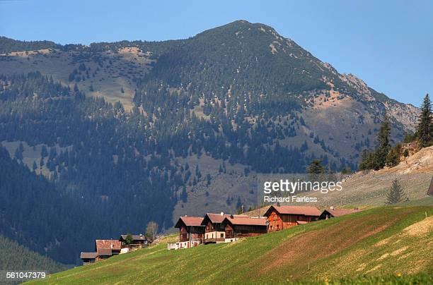 liechtenstein chalets - principality of liechtenstein stock pictures, royalty-free photos & images