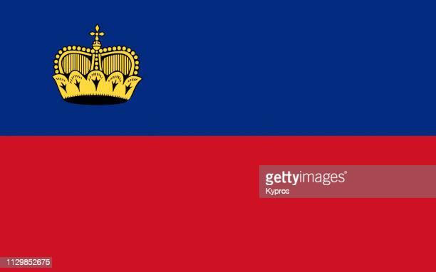 liechtenstein flag - principality of liechtenstein stock pictures, royalty-free photos & images