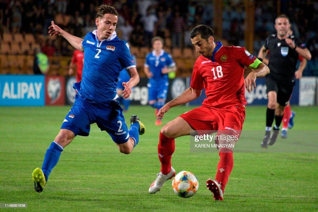 FBL-EURO-2020-QUALIFIER-ARM-LIE : News Photo