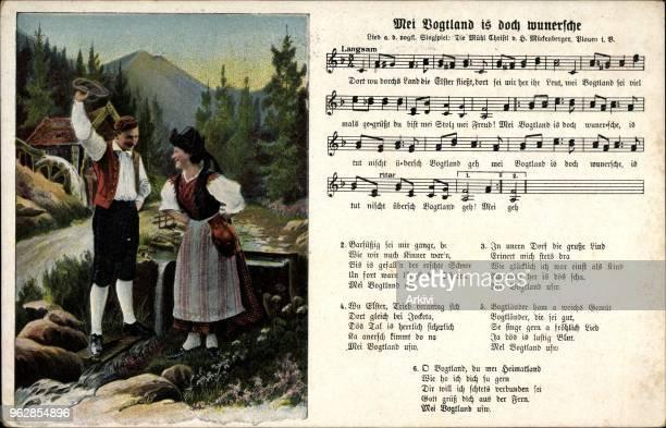 Lied Ak Mückenberger Hilmar Mei Vogtland is doch wunnersche