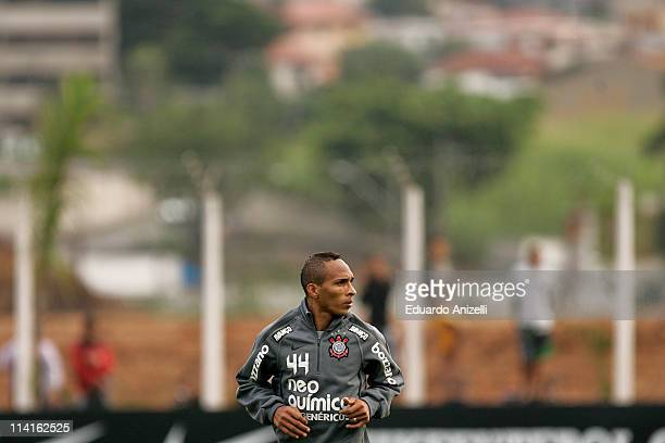 Liedson during a training session of Corinthians at Academia de Futebol on May 13, 2011 in Sao Paulo, Brazil.