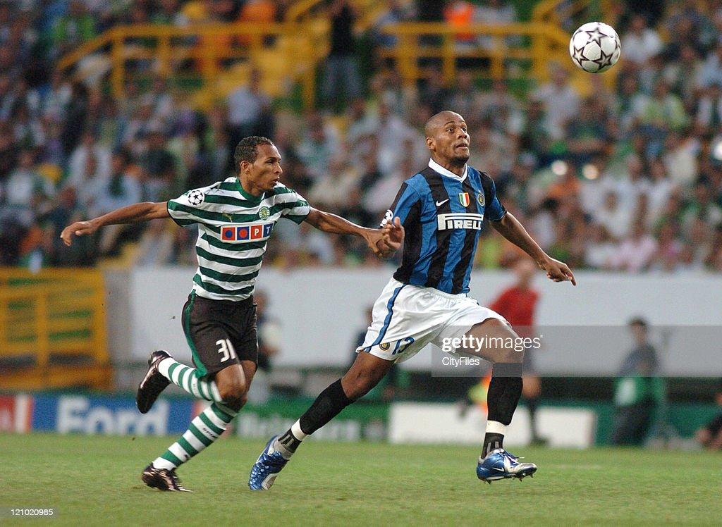 UEFA Champions League - Group B - Sporting vs FC Internazionale Milano - September 12, 2006 : ニュース写真