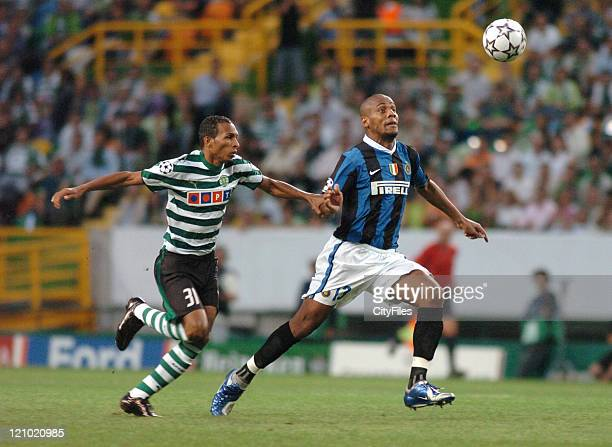 Liedson during the UEFA Champions League Group B match between Sporting and FC Internazionale Milano at Estadio Alvalade in Lisbon, Portugal on...