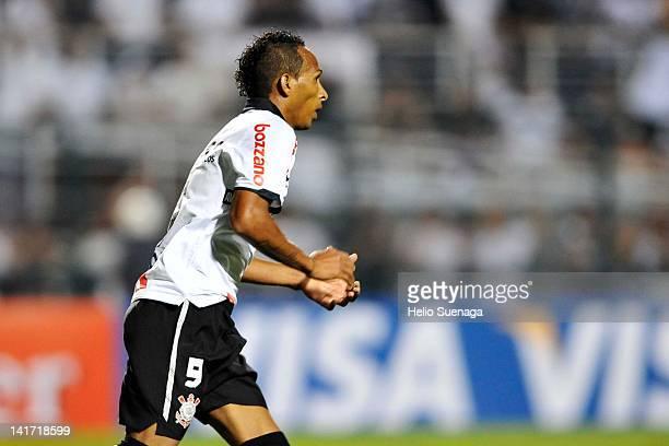 Liedson of Corinthians during a match between Corinthians and Cruz Azul as part of Santander Libertadores Cup 2012 at Pacaembu Stadium on March 21,...