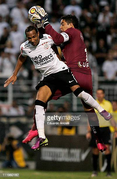 Liedson of Corinthians in action during a match against Sao Caetano at Pacaembu stadium on April 10 in Sao Paulo, Brazil.