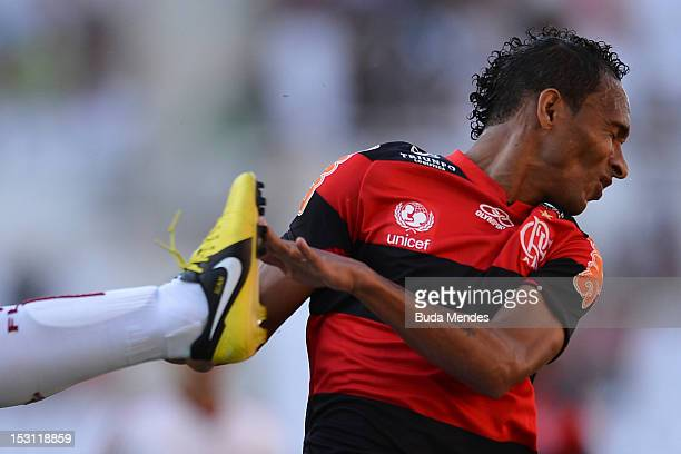 Liedson of Flamengo during a match as part of Serie A 2012 at Engenhao stadium on September 30, 2012 in Rio de Janeiro, Brazil.