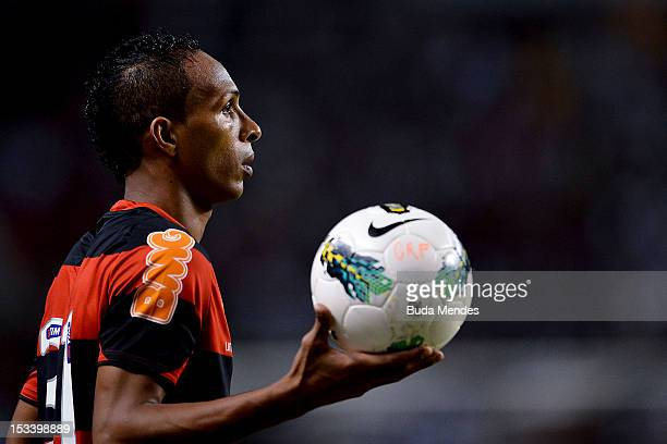 Liedson of Flamengo during a match as part of Serie A 2012 at Engenhao stadium on October 04, 2012 in Rio de Janeiro, Brazil.