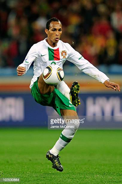 Liedson of Portugal controls the ball during the 2010 FIFA World Cup South Africa Round of Sixteen match between Spain and Portugal at Green Point...