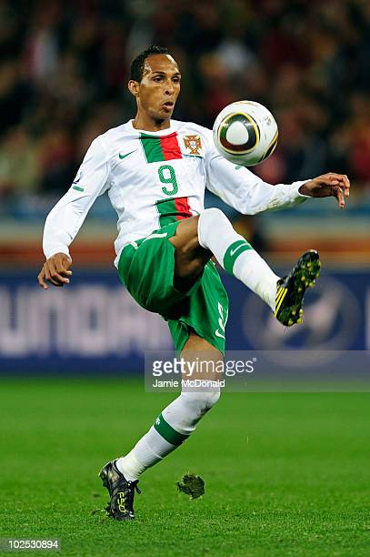 Liedson of Portugal in action during the 2010 FIFA World Cup South Africa Round of Sixteen match between Spain and Portugal at Green Point Stadium on...