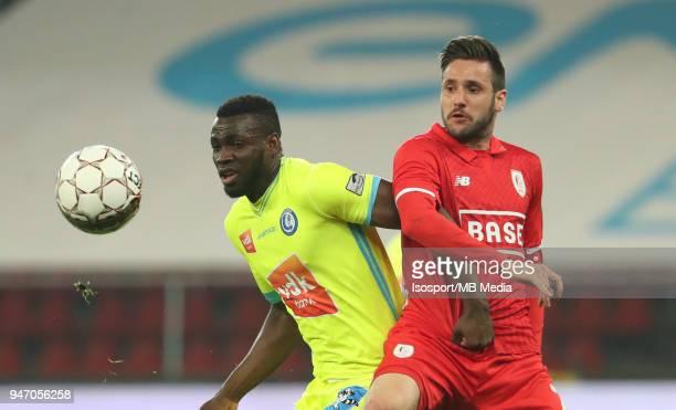 20180414 Liege Belgium / Standard de Liege v Kaa Gent / 'nAnderson ESITI Duje COP'nFootball Jupiler Pro League 2017 2018 PlayOff 1 Matchday 3 /...