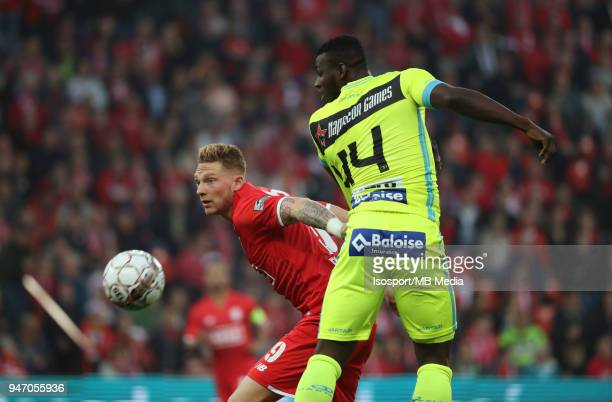 20180414 Liege Belgium / Standard de Liege v Kaa Gent / 'nRenaud EMOND Anderson ESITI'nFootball Jupiler Pro League 2017 2018 PlayOff 1 Matchday 3 /...