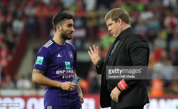20180418 Liege Belgium / Standard de Liege v Rsc Anderlecht / 'nIvan OBRADOVIC Hein VANHAEZEBROUCK'nFootball Jupiler Pro League 2017 2018 PlayOff 1...