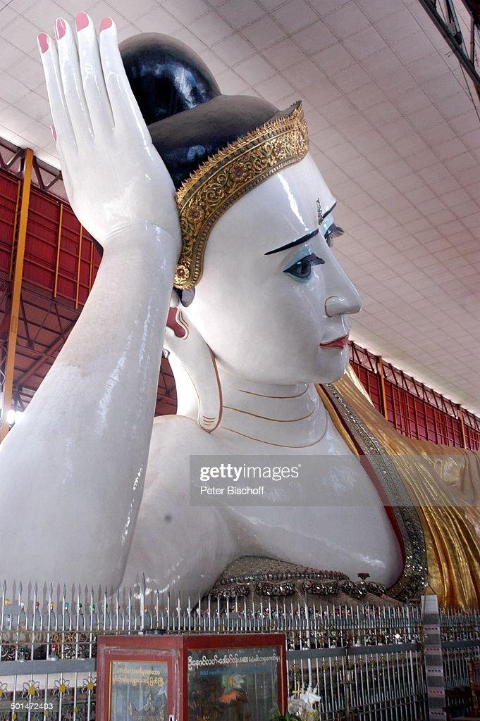 Liegender Buddha, Kyau-htat-Gyi-Pagode, Yangon (Ex-Rangun), Hauptstadt von Myanmar ( : News Photo
