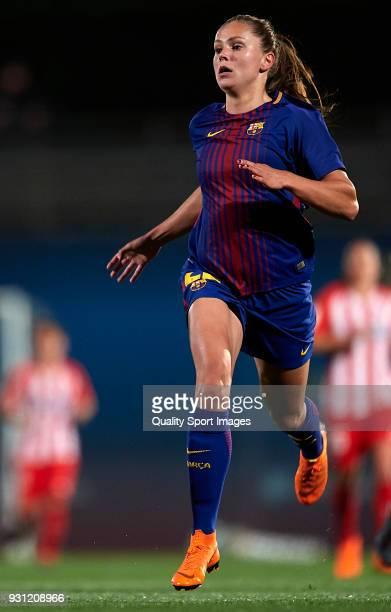 Lieke Martens of Barcelona in action during the Liga Femenina match between FC Barcelona Women and Atletico de Madrid Women at Ciutat Esportiva Joan...