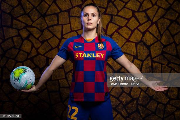 Lieke Martens of Barcelona poses during the UEFA Women's Champions League Portrait Shoot on January 29 2020 in Barcelona Spain