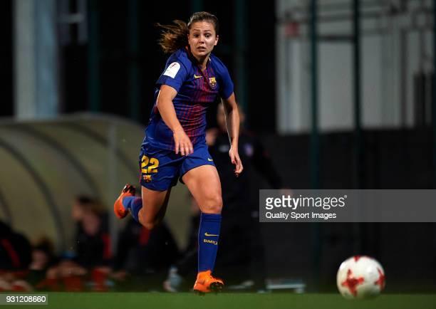 Lieke Martens of Barcelona runs with the ball during the Liga Femenina match between FC Barcelona Women and Atletico de Madrid Women at Ciutat...