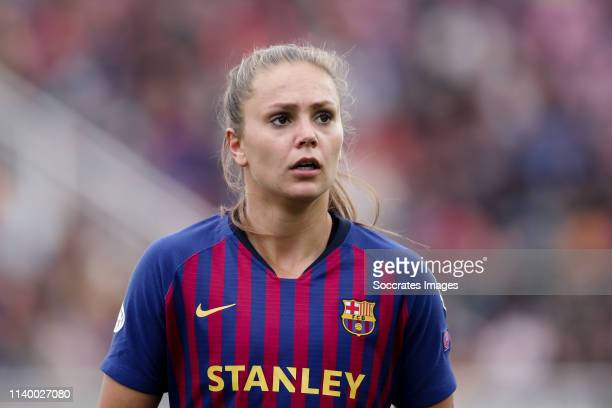 Lieke Martens of FC Barcelona during the UEFA Champions League Women match between FC Barcelona v Bayern Munchen at the Mini Estadi Barcelona on...
