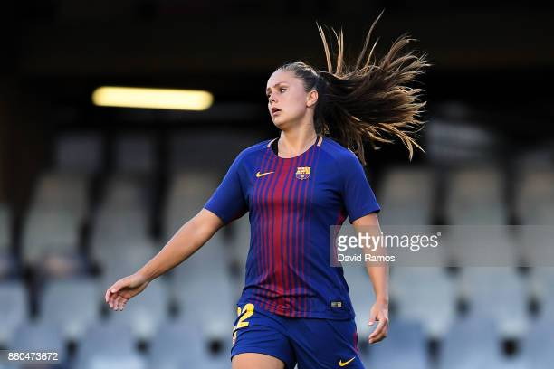 Lieke Martens of FC Barcelona looks on during the UEFA Womens Champions League round of 32 match between FC Barcelona and Avaldsnes at the Mini...