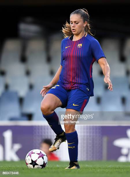 Lieke Martens of FC Barcelona runs with the ball during the UEFA Womens Champions League round of 32 match between FC Barcelona and Avaldsnes at the...