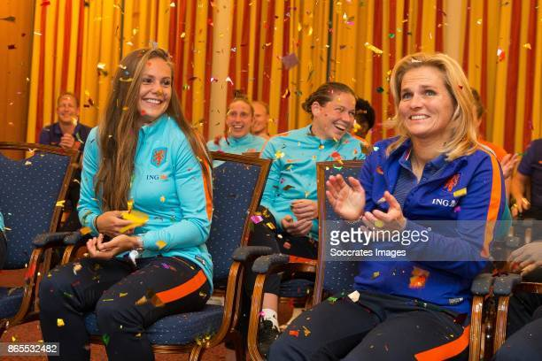 Lieke Martens of Holland crowned as FIFA world player of the year and coach Sarina Wiegman of Holland crowned as FIFA coach of the year during the...