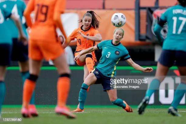 Lieke Martens of Holland Women, Aivi Luik of Australia Women during the International Friendly Women match between Holland v Australia at the Goffert...