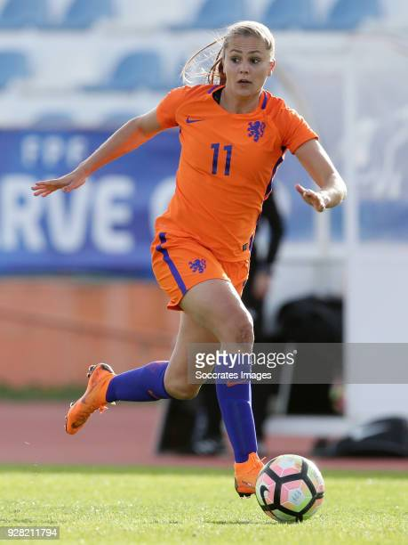 Lieke Martens of Holland Women during the Algarve Cup Women match between Iceland v Holland at the Estádio Municipal de Albufeira on March 5 2018 in...