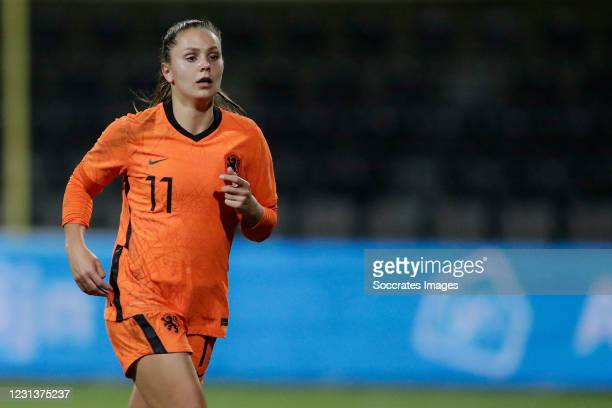 Lieke Martens of Holland Women during the International Friendly Women match between Holland v Germany at the Seacon Stadium - De Koel on February...