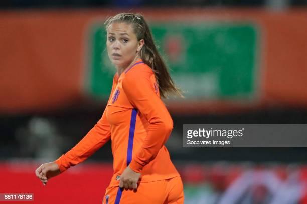Lieke Martens of Holland Women during the World Cup Qualifier match between Holland v Republic of Ireland at the Goffert Stadium on November 28 2017...