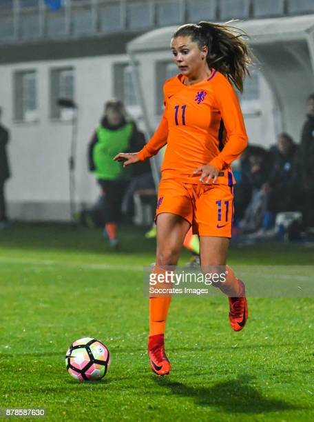 Lieke Martens of Holland Women during the World Cup Qualifier Women match between Slovakia v Holland at the National Training Center on November 24...