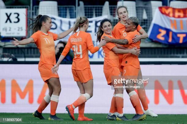 Lieke Martens of Holland Women Jackie Groenen of Holland Women Danielle van de Donk of Holland Women Vivianne Miedema of Holland Women Shanice van de...