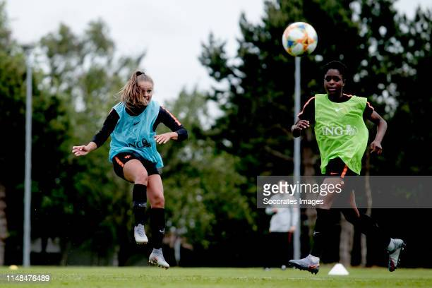 Lieke Martens of Holland Women Liza van der Most of Holland Women during the Training Holland Women at the Stade Jules Ladoumegue on June 7 2019 in...