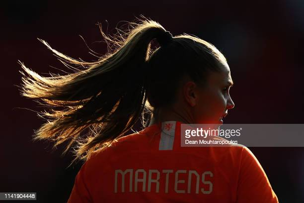 Lieke Martens of Netherlands in action during the International Friendly Women's match between Netherlands and Chile at AFASStadium on April 09 2019...